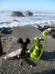 plage, surf, vague, crochet, amigurumi, laine, vache, souris,